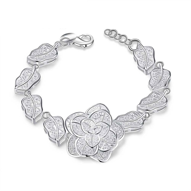 Simple Beautiful Top Quality 925 Sterling Silver Bracelet For Women