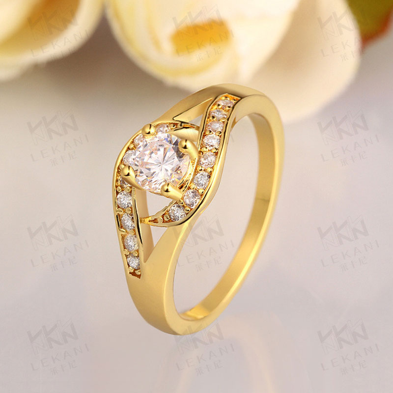 Simple Beautiful Top Quality Plated Rose Gold/Yellow Gold Rings For Women