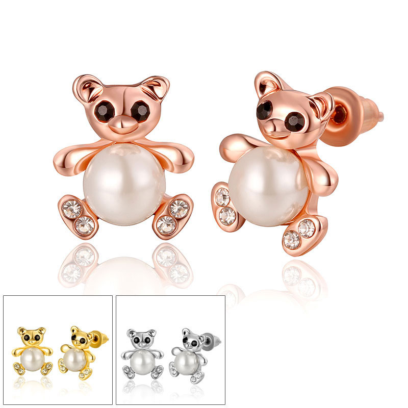 Simple Beautiful Top Quality Rose Gold/Yellow Gold Earrings For Women