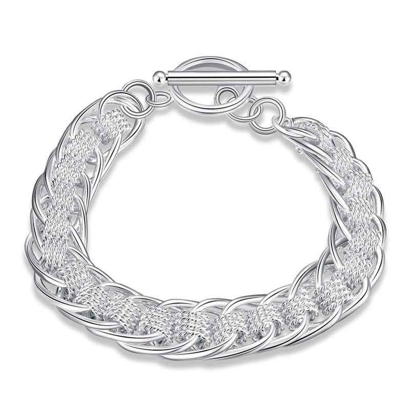 Simple Beautiful Top Quality 925 Sterling Silver Hollow Bracelet For Women