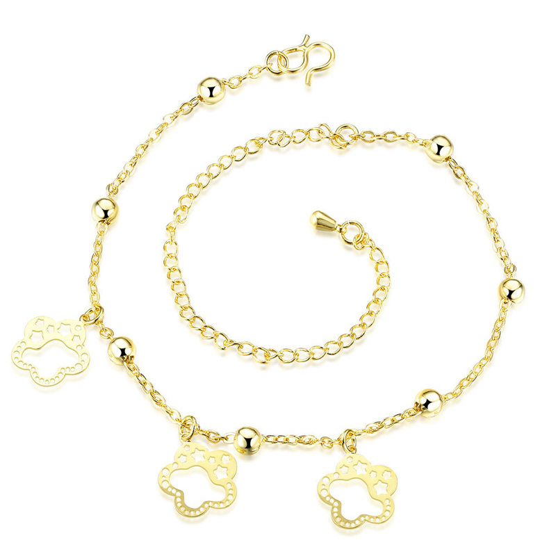 Fashion Flower Foot Bracelet Silver Gold Plated Anklet Bracelets For Women Foot Chain