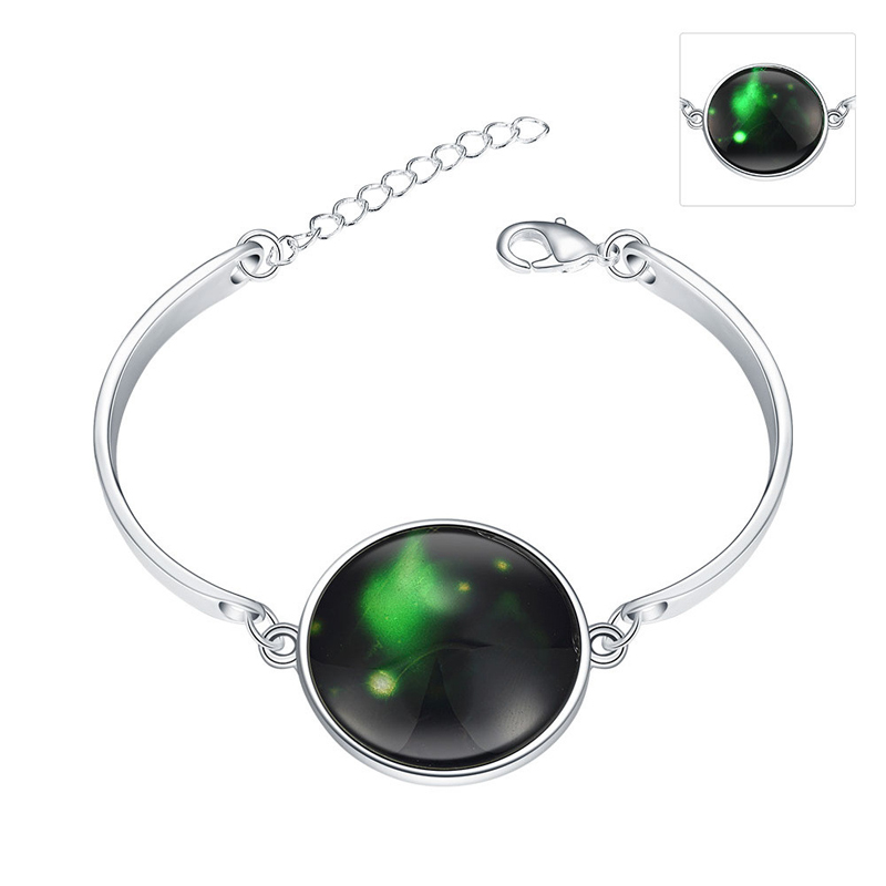 Beautiful bracelet Luminous In the Dark 925 Sterling Silver Braclet YGH036