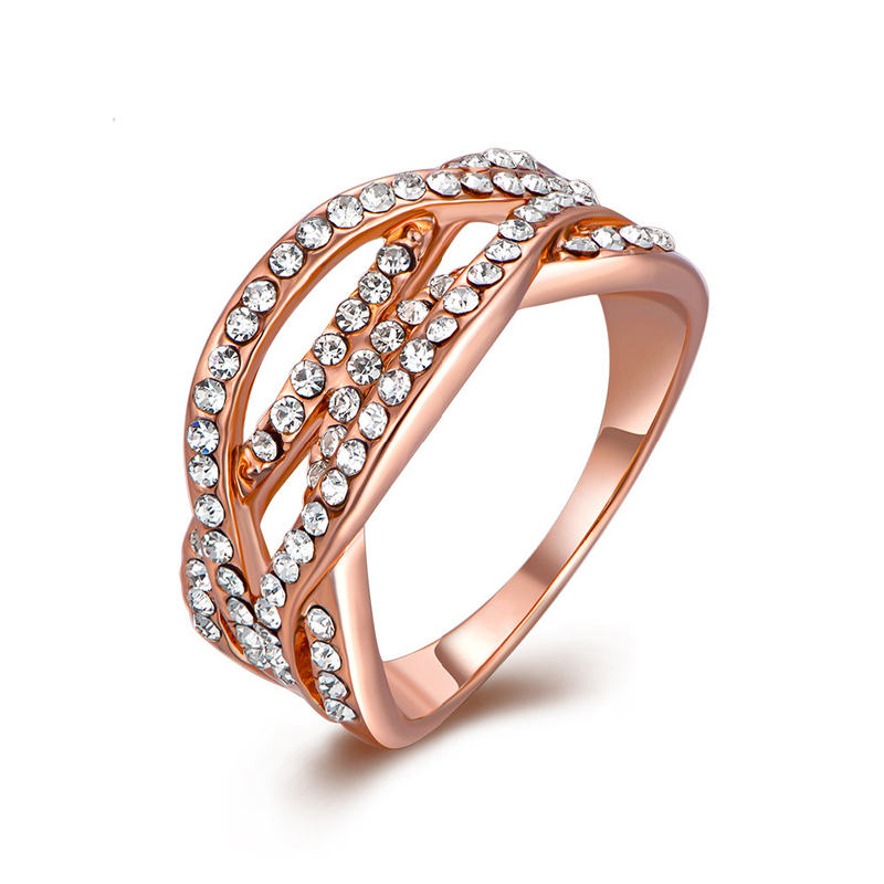 High Quality Nickle Free Antiallergic Gold Plated Ring For Women