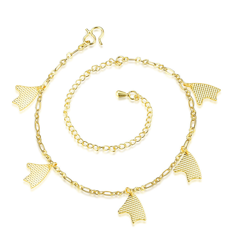Cute Fish Anklet Gold Silver Plated Leg Bracelets For Women Foot Chain Jewelry
