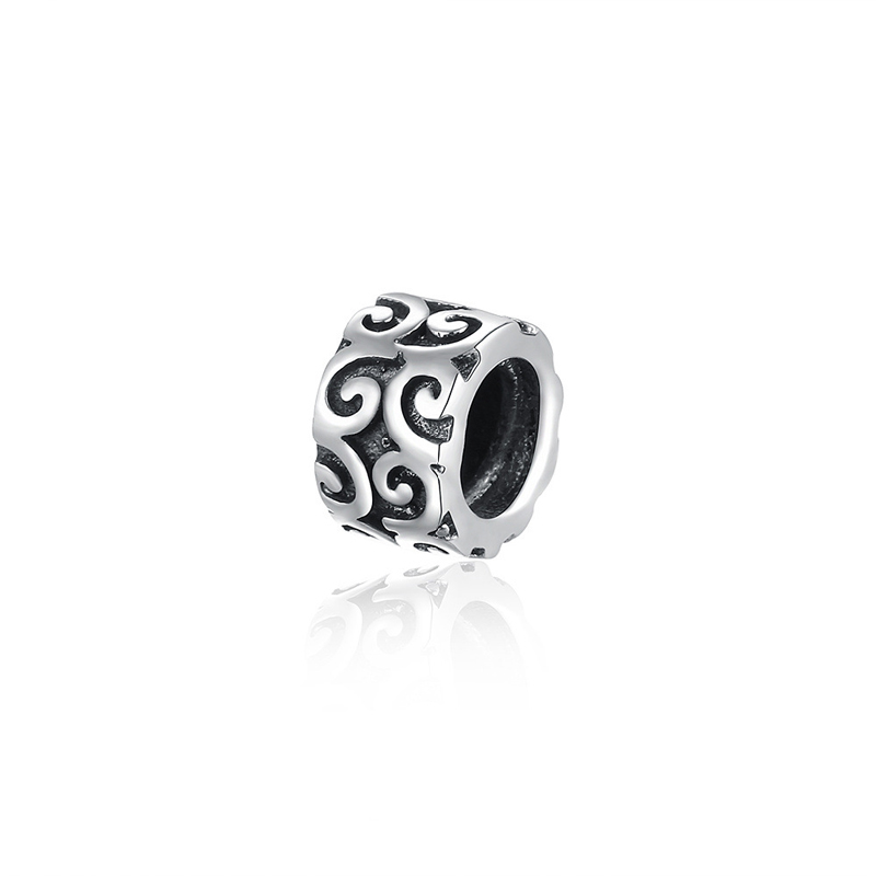 Original 925 Sterling Silver Cute Shape Charms Bead Round Fit Pandora Bracelet DIY Jewelry Accessories