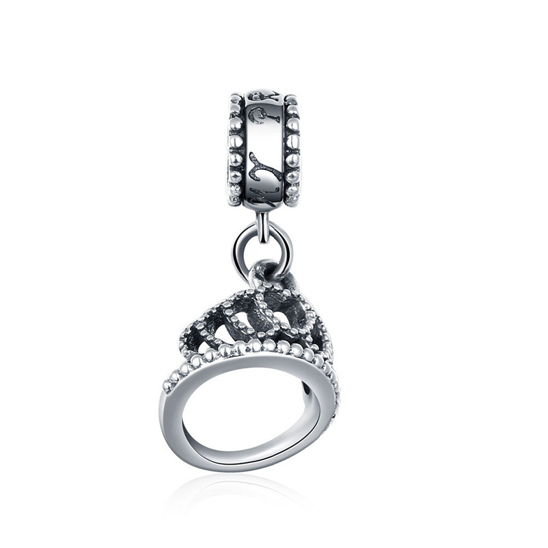 925 Sterling Silver Cute Ring Charms Beads Fit Original Bracelet Necklace Jewelry Accessories