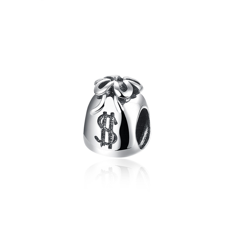 Moneybag Pendant 925 Sterling Silver Beads DIY Charm Big Hole Bead Classic Charms Fit For Pandora Bracelet and Necklace