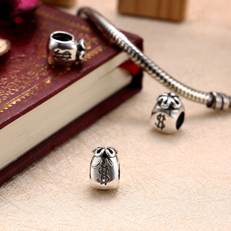 089253ddb Moneybag Pendant 925 Sterling Silver Beads DIY Charm Big Hole Bead Classic Charms  Fit For Pandora larger image