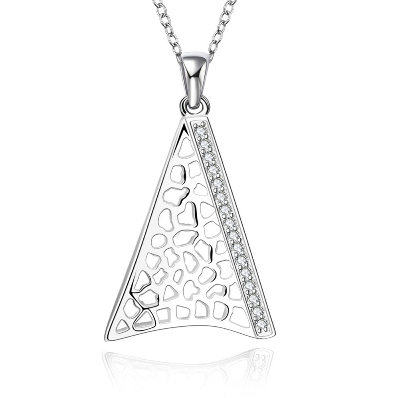Silver Necklace Pendant 925 Jewelry Silver plated Crystal Necklace
