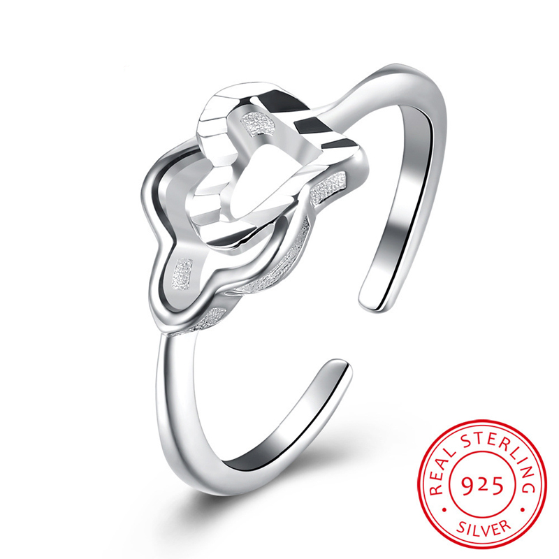 Open-End Ring Sterling-Sliver Rings Woman Jewelry Silver Ring European Style SVR103