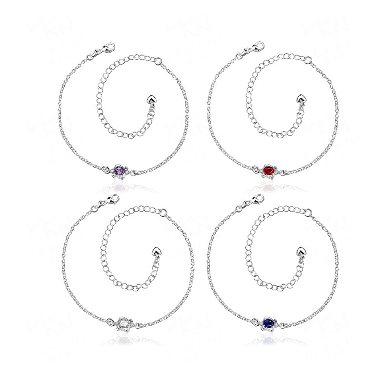 Hot Sale in European&American Silver Plated Art of Droplets Anklet Jewelry SPA007