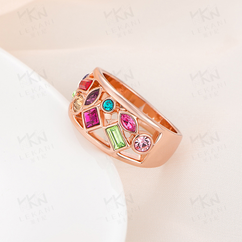 Colourful Gold plated 925 Sterling Silver Ring for Women