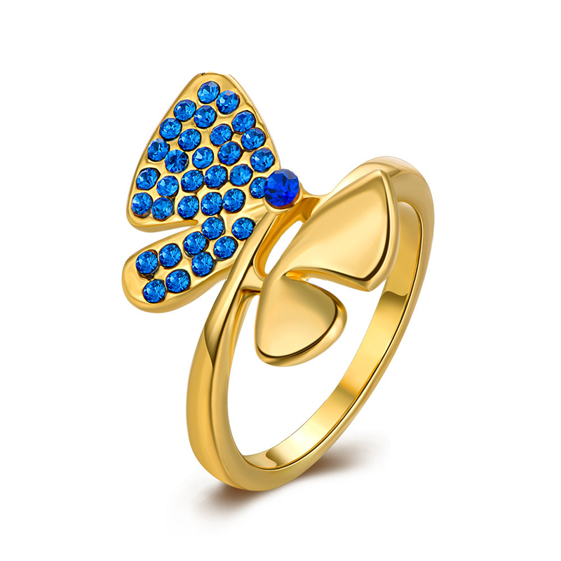 Antiallergic New Fashion Jewelry Real Gold Plated Ring For Women
