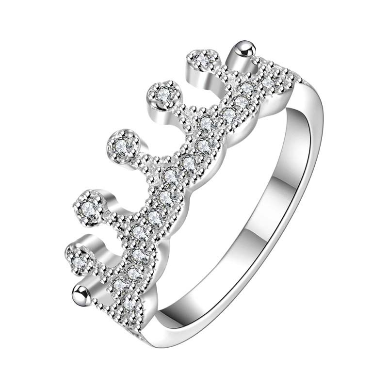 925 Sterling Silver Ring with Crown desgin For Women Gifts