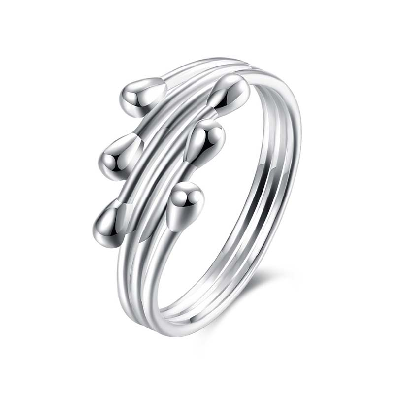 Sliver Plated Ring with Annular Shape Women's Rings Ladies and Girls Finger Jewelry