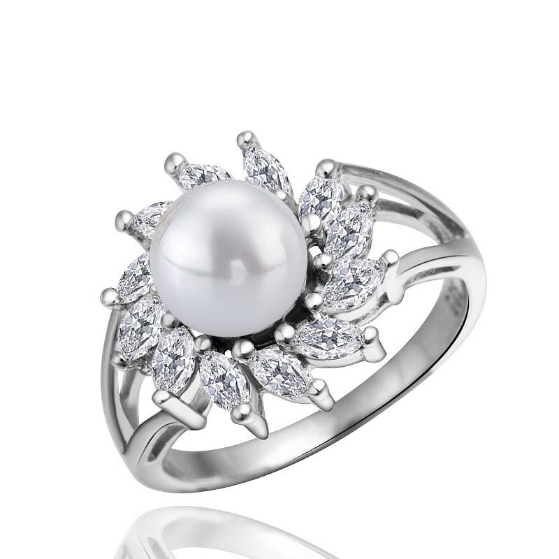 925 Sterling Silver Pearl Ring Designs for Women