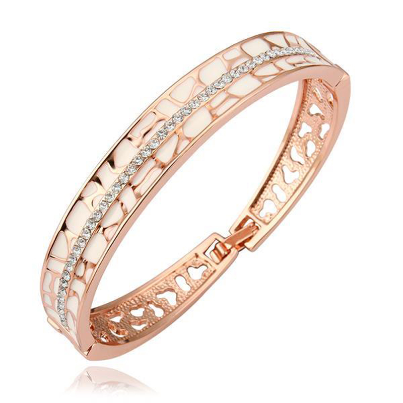Bracelet Bangle For Women Geometric Zircon Simple Elegant Jewelry Ornament Cuff Accessories