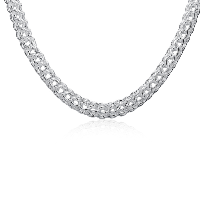 Full Circle TO 18 Inch Round Silver Necklace Fashion Chain Necklace