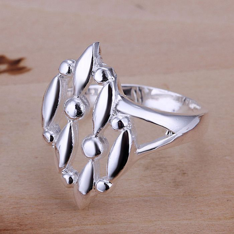 Creative Fashion Jewelry Frosted Surface Silver Plated Rings for Women