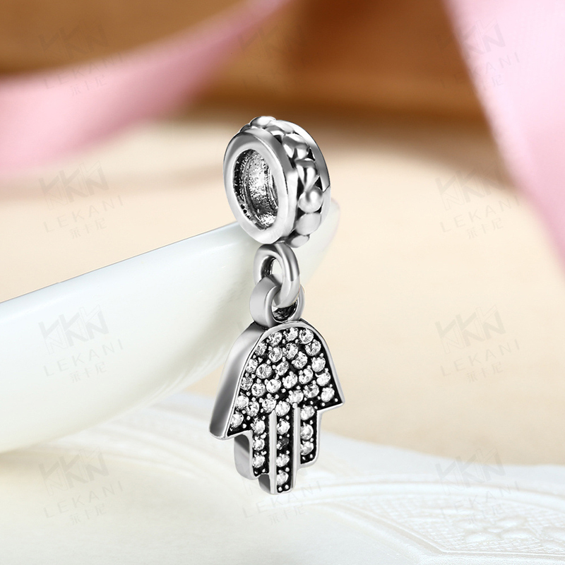 Hand Pendant Charm Fits Pandora DIY Bracelets Anthentic 925 Silver Dangle Beads for Jewelry Making