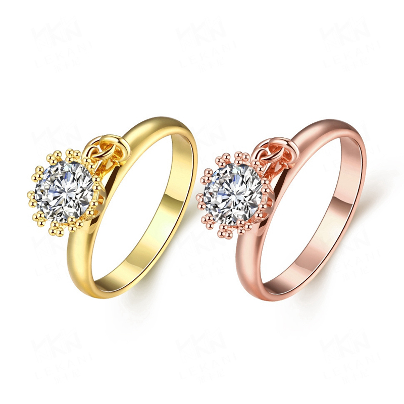 AAA+ CZ Wedding Ring Gold Plated Classical Finger Ring