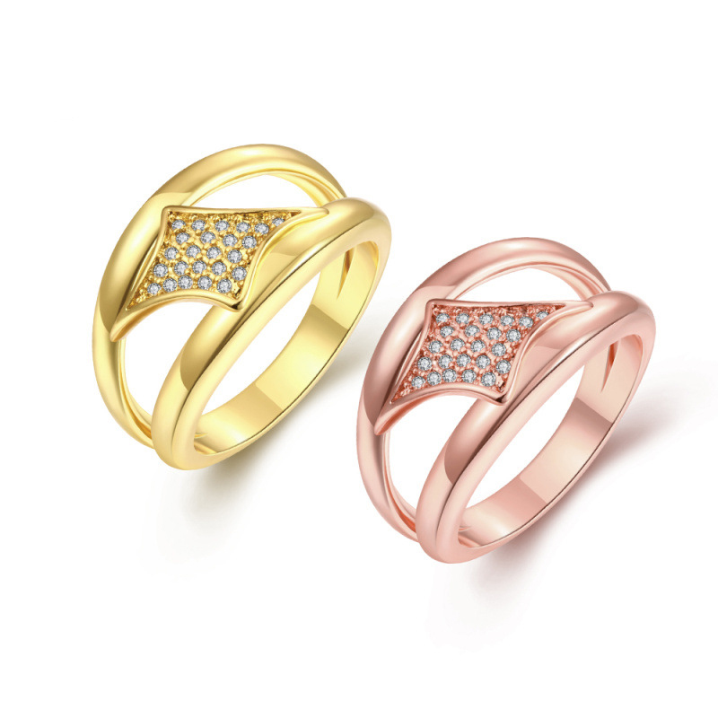 Gold Filled Rings for Women Butterfly-shaped Wedding Engagement Jewelry KZCR265