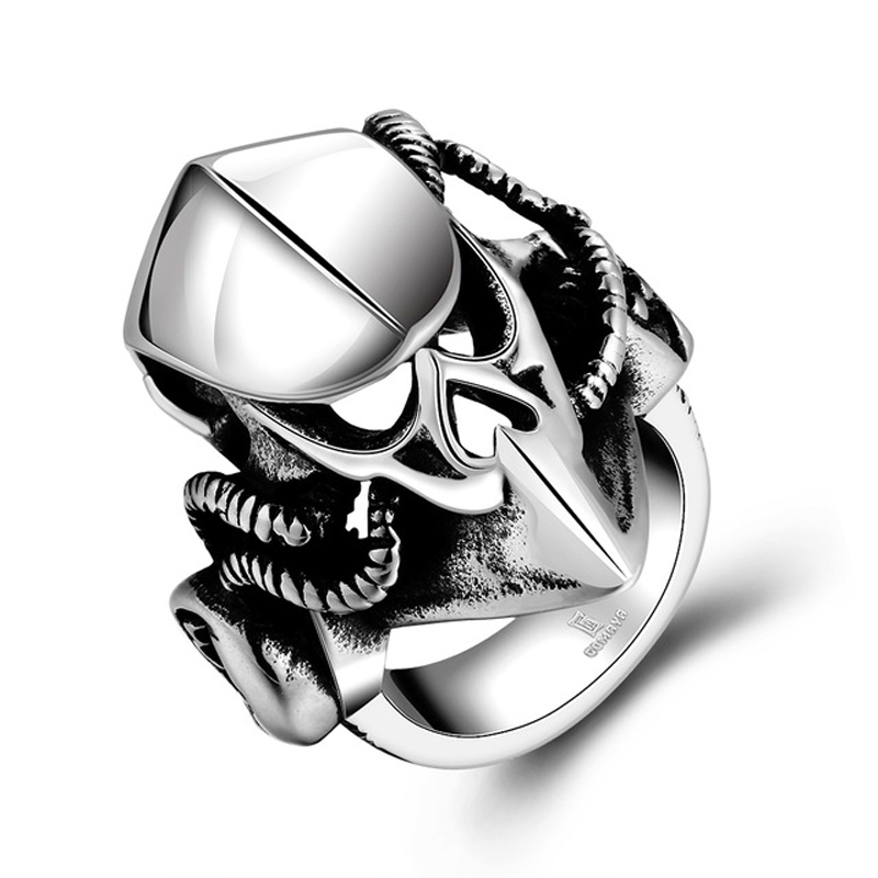 316L Stainless Steel Animal Masks Rings for Men Jewelry R172
