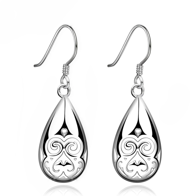 Silver Hallowmas Skeleton Teeth Dangle Drop Earrings Handmade E582