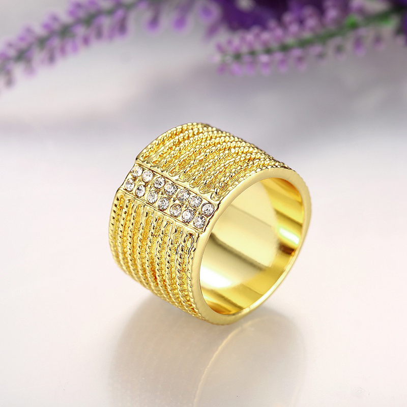 Nickle Free Antiallergic New Fashion Jewelry Gold Plated Ring R782
