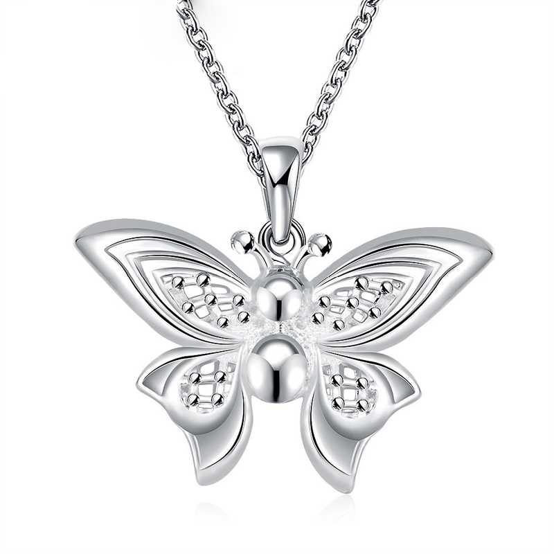 925 Sterling Silver Butterfly Pedant For Women Wedding Party Necklace