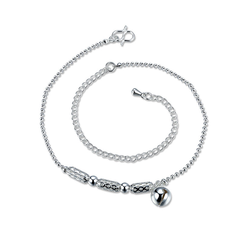 Cute Small Silver Bell Anklet Bracelet for Women Girls Leg Bracelets Foot Chain Jewelry