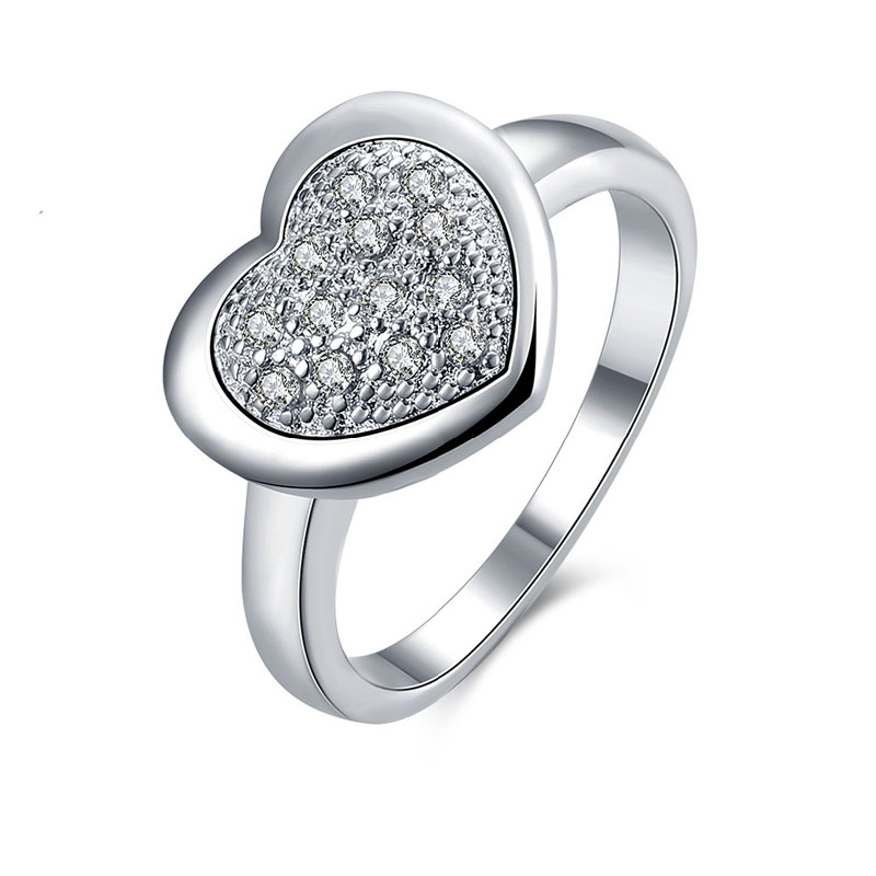 925 Sterling Silver Ring Fashion Wedding & Engagement Heart Ring