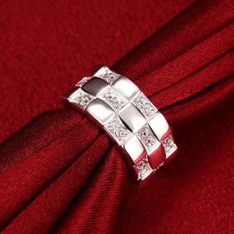 AA+ Zircon Rings For Women Silver Plated Rings Wedding Jewelry
