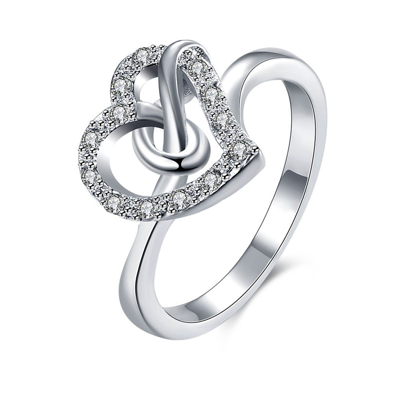 925 Sterling Silver Ring Fashion Wedding & Engagement Hollow out Heart Ring Made With AAA+ CZ diamond Jewelry For Women