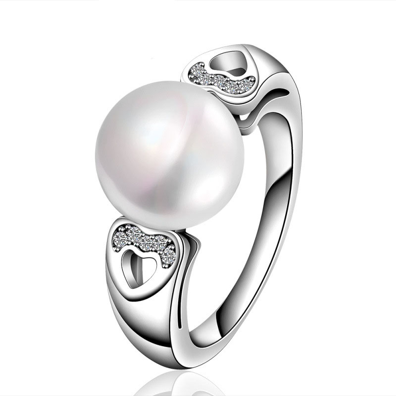 Shell Pearl Style Elegant Lady White Gold Wedding Jewelry Rrings R019