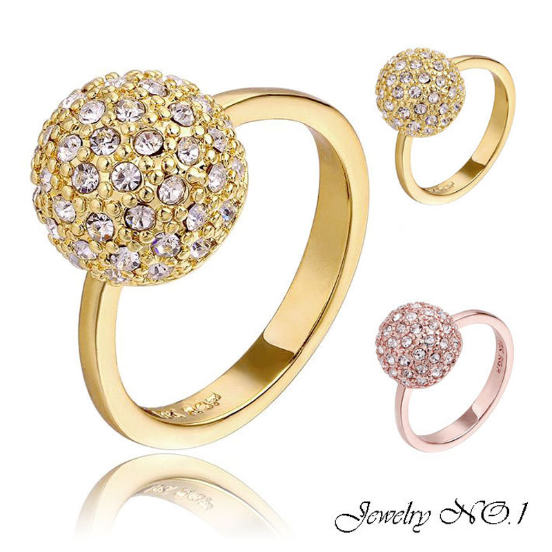 Antiallergic Jewelry Real Gold Plated Ring For Women