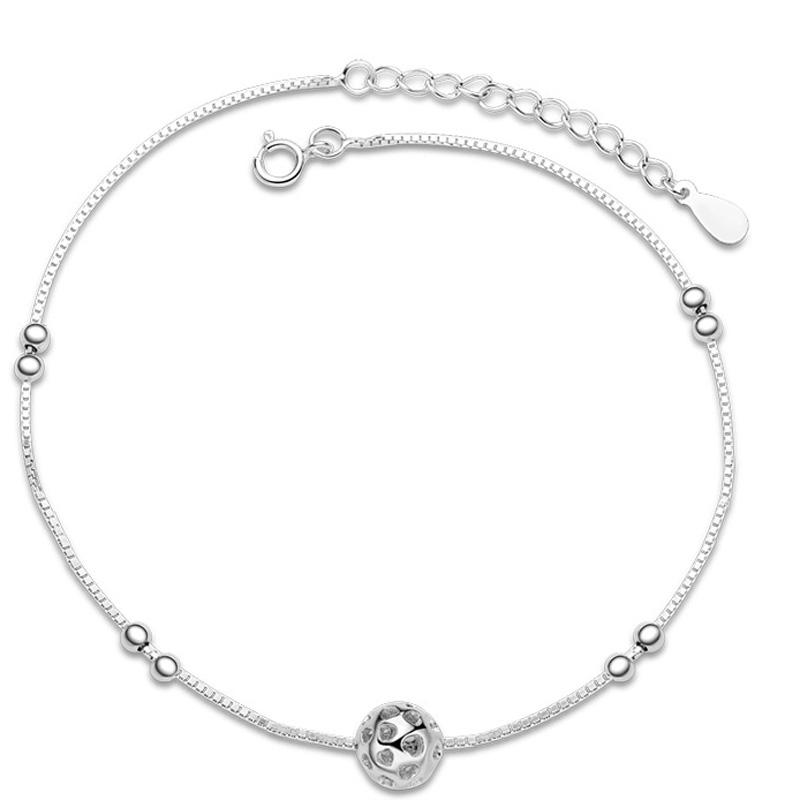 Delicate Small Ball 925 Sterling Silver Fashion Anklets for Women F001