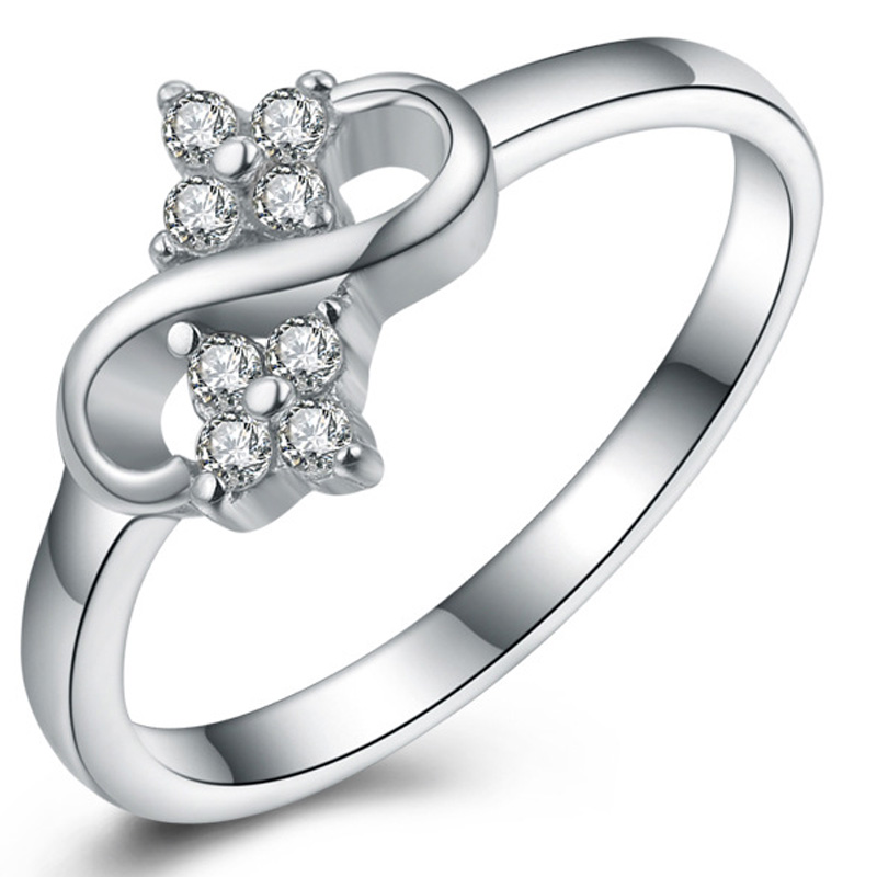 Zircon Diamond 925 Sterling Silver Jewelry Ring for Women