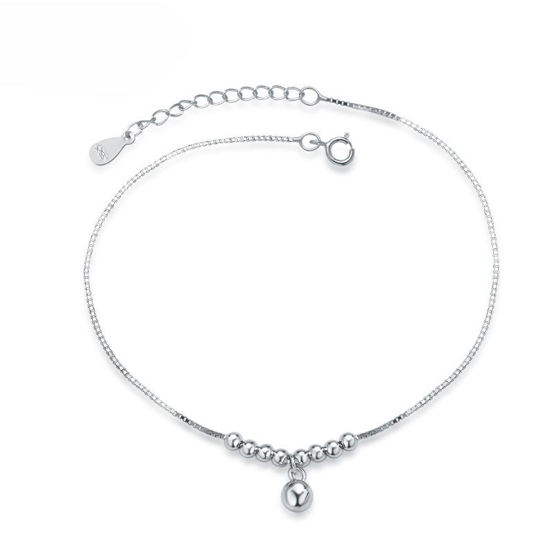Small Beads 925 Sterling Silver Fashion Anklets for Women