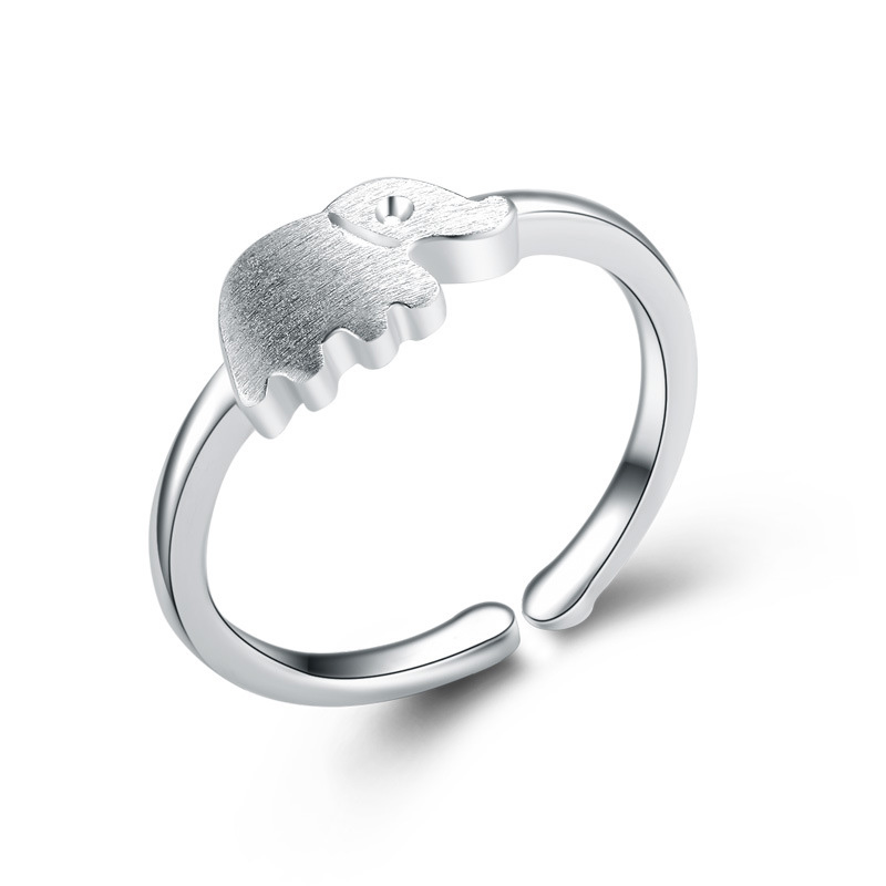 Fashion Elephant 925 Sterling Silver Jewelry Ring for Women