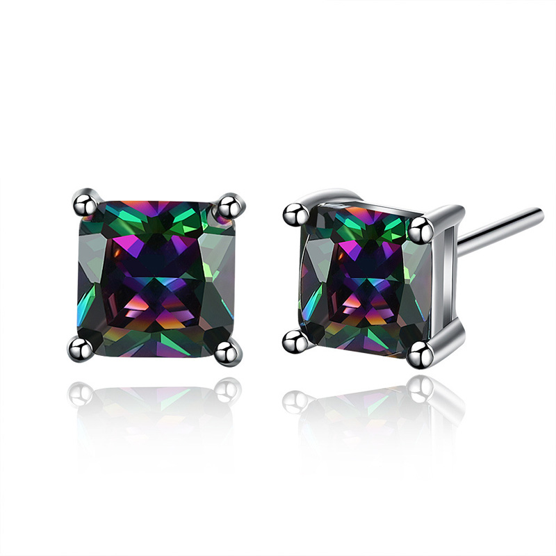 Elegant Colourful Creative 925 Sterling Silver Earring for Girl