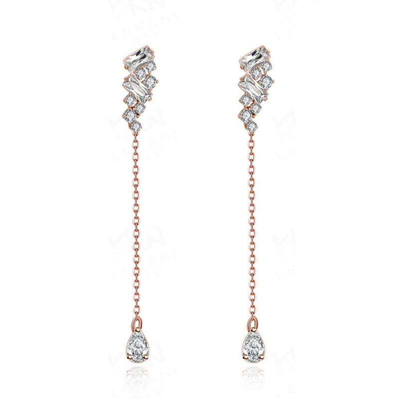 925 Sterling Silver Gold Plated Fringed Shape Earring for Women