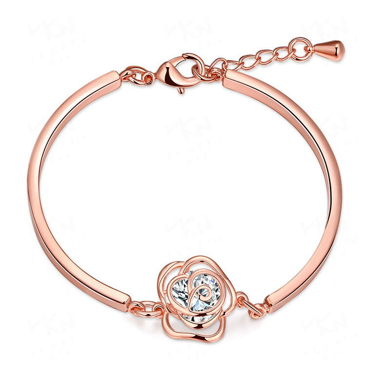 Classic Zircon Crystals Luxury Women Bracelet for Girls