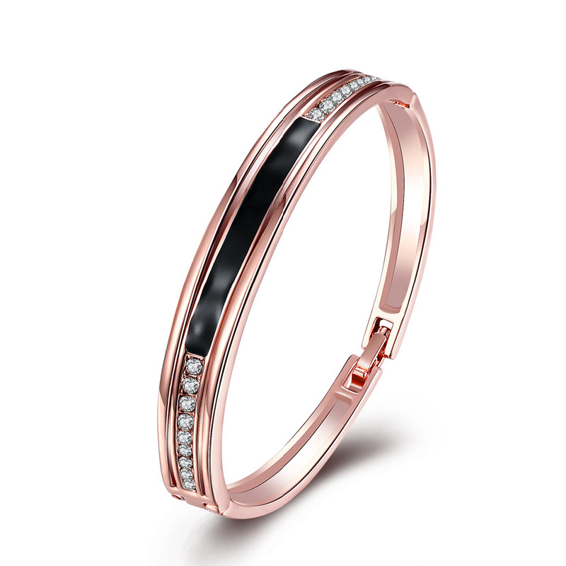 High Quality Nickle Free Antiallergic 2016 New Rose Gold Plated Bangle Bracelet