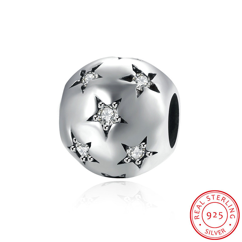 925 Sterling Silver Beads Heart Animal Flower European Charms Bead Fit Pandora Style Bracelet Bangle DIY Original Jewelry Making