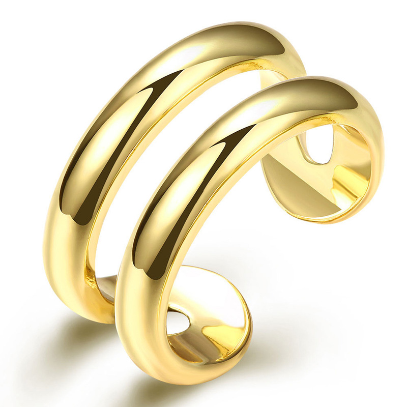 Yellow Gold Plated High Polish Bracelet for Women Wedding Band R064