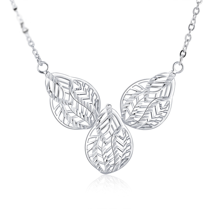 Popular High-End Jewelry Charm Leafs Pendant Silver Plated Necklace & Pendant Fashion Jewelry Gifts For Women