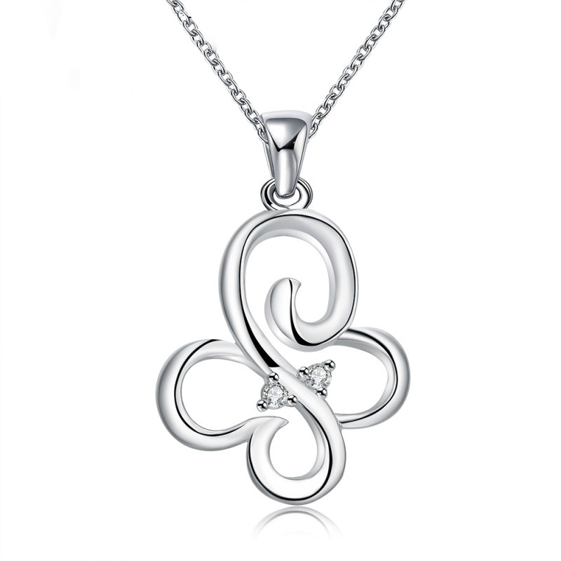 Silver Plated Chain Necklaces Hot Animal Butterfly Pendants & Necklaces Fashion Jewelry for Women