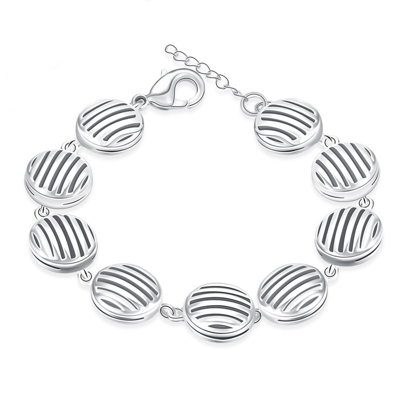 Factory Silver plated Bracelet Beautiful Design for Women High Quality Fashion Jewelry Wholesale