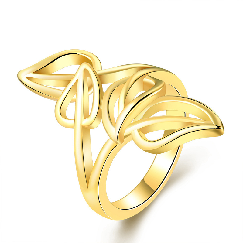 Wedding Ring Sets Plant Design Multi Leaves Romantic Gold Plated Rings Fashion Jewelry for Women